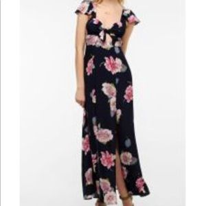 Floral dress with splits